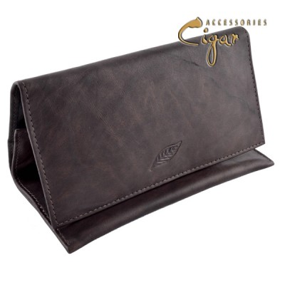 Leather Tobacco Pouch Chocolat