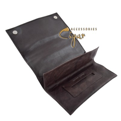 358 Leather Tobacco Pouch Chocolat