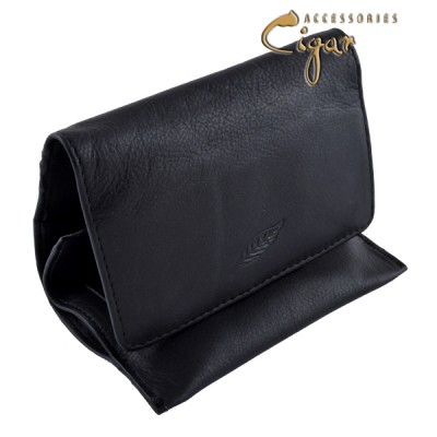 Leather Tobacco Pouch Black