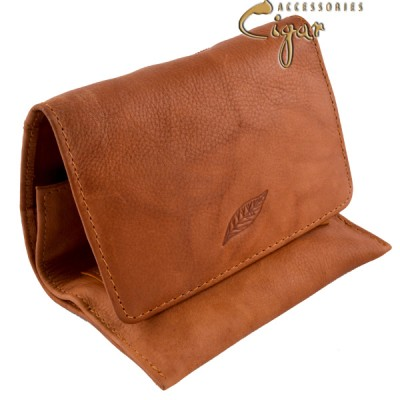 Leather Tobacco Pouch Coffee