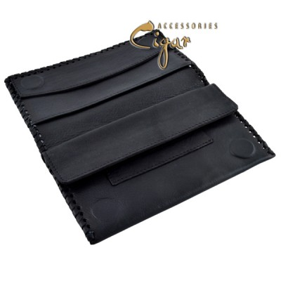 362 Leather Tobacco Pouch Black