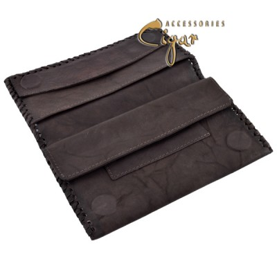 363 Leather Tobacco Pouch Chocolat