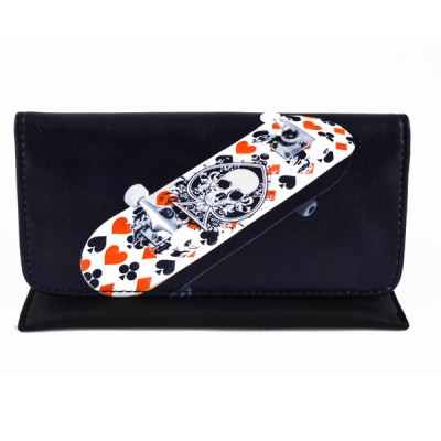 Artificial leather tobacco pouch with magnet (Skull Roller)
