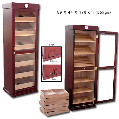 0123 Cigar cabinet matt finish and glass door