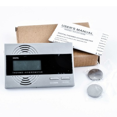 9058 Digital hygrometer/thermometer silver