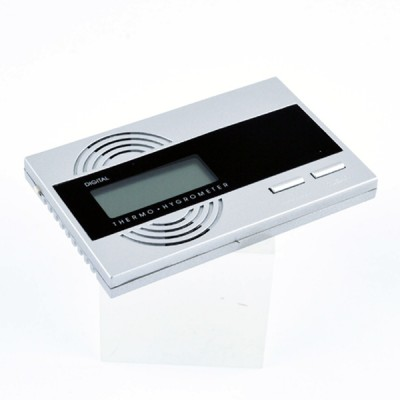 Digital hygrometer/thermometer silver