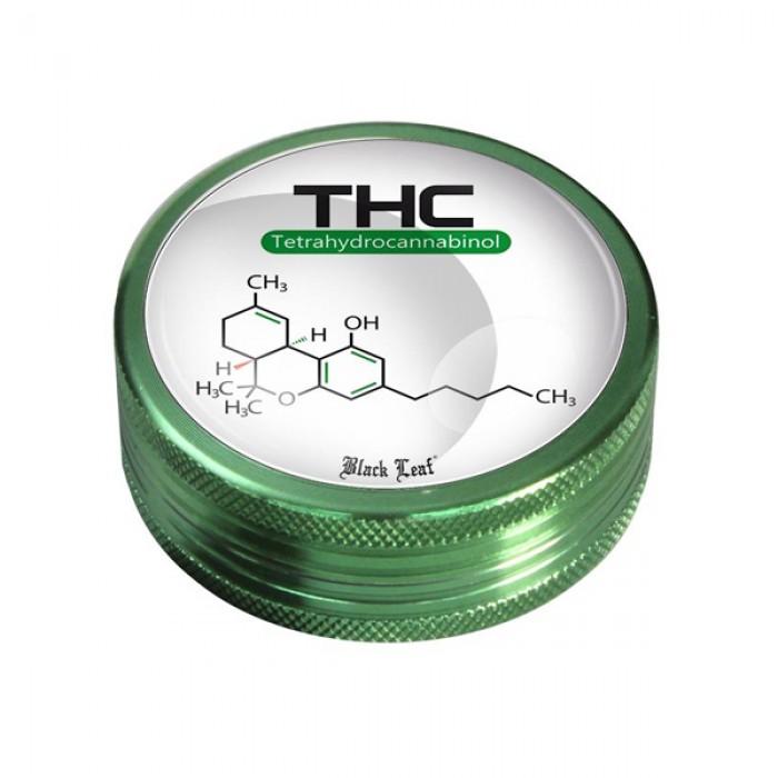Black Leaf' Grinder 2-parts 'THC'