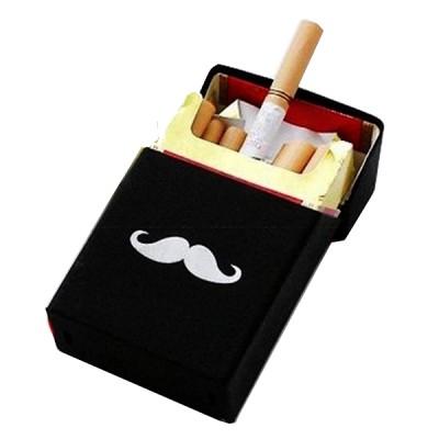 Silicone cigarette case Mustache